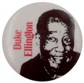 Duke Ellington - 'White' Button Badge